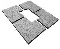 Пластиковые формы «Комплект плит мощения «Тучка»л